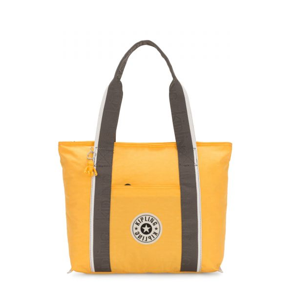ERA M Vivid Yellow Combo TOTE by Kipling Front