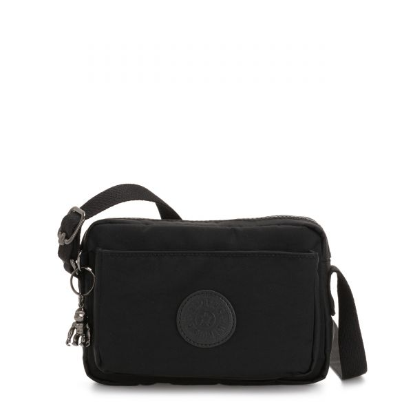 ABANU Rich Black CROSSBODY by Kipling Front