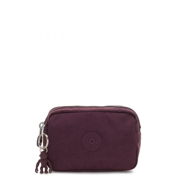 GLEAM S Dark Plum POUCHES/CASES by Kipling Front