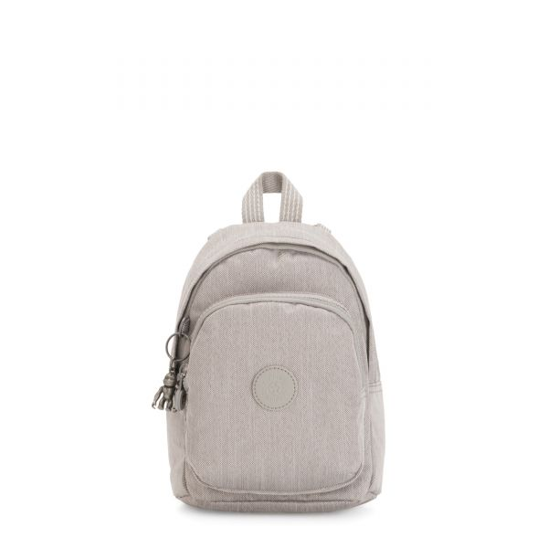 DELIA COMPACT Grey Beige Peppery BACKPACKS by Kipling Front