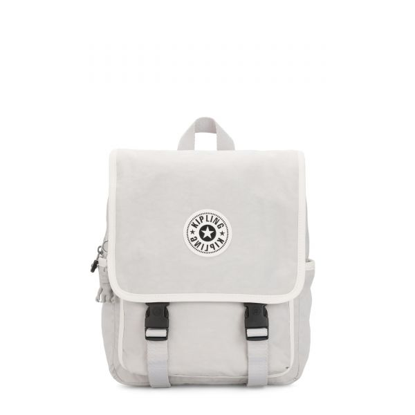 LEONIE S Curiosity Grey Combo BACKPACKS by Kipling Front