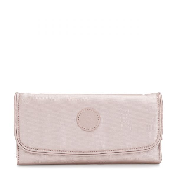 MONEY LAND Metallic Rose WALLETS by Kipling Front
