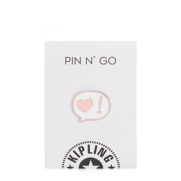 TALKING HEART PIN Mix Col Ss20 PRODUCT EXTENSIONS by Kipling Back