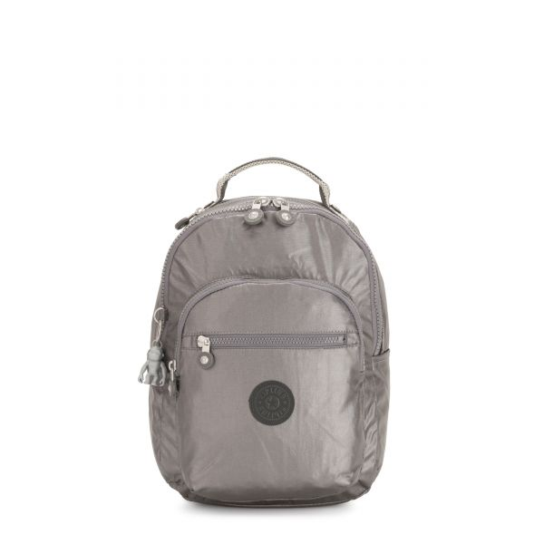 SEOUL S Carbon Metallic BACKPACKS by Kipling Front