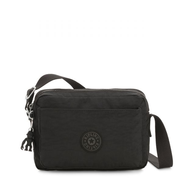 ABANU M Black Noir CROSSBODY by Kipling Front