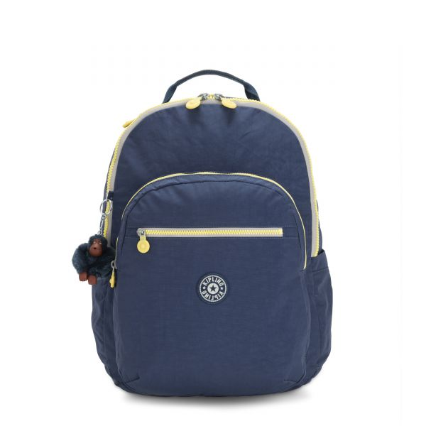 SEOUL XL Blue Thunder BACKPACKS by Kipling Front