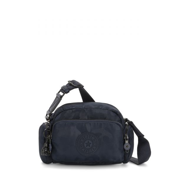 JENERA MINI Satin Camo Blue CROSSBODY by Kipling Front