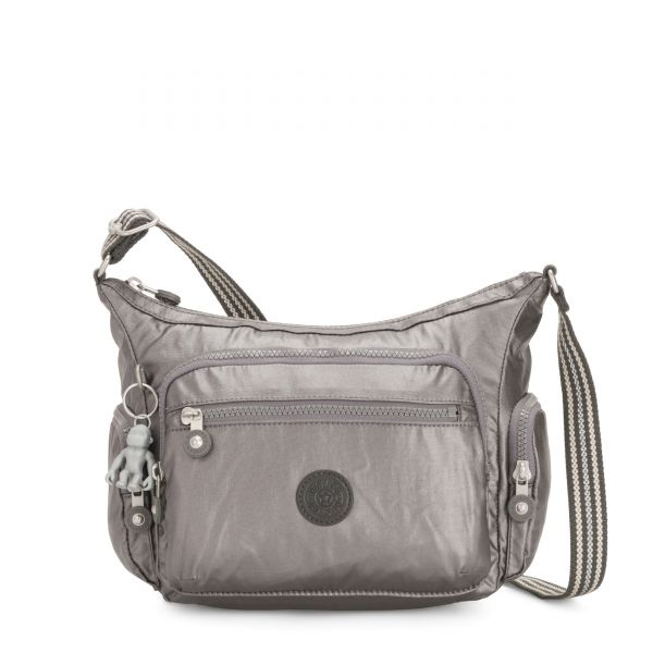 GABBIE S Carbon Metallic CROSSBODY by Kipling Front