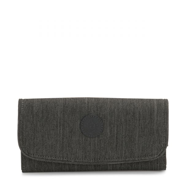 MONEY LAND Black Indigo WALLETS by Kipling Front