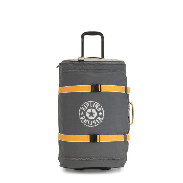 DISTANCE M Dark Carbon Yellow UPRIGHT by Kipling Front