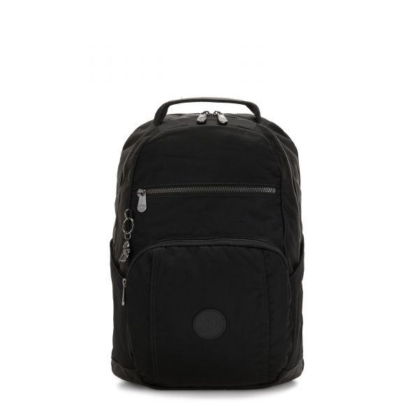 TROY Rich Black BACKPACKS by Kipling Front