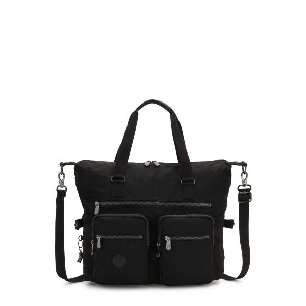 NEW ERASTO Rich Black TOTE by Kipling Front