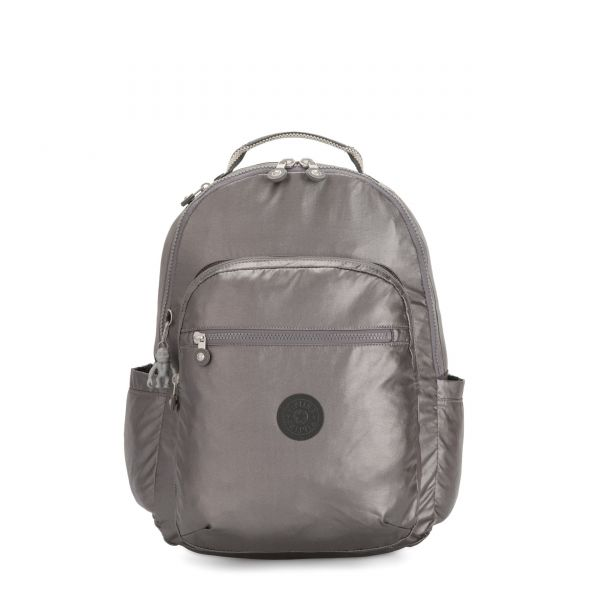 SEOUL Carbon Metallic BACKPACKS by Kipling Front