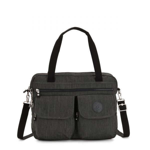 MARIC Black Indigo Work COMPUTER BAGS by Kipling Front