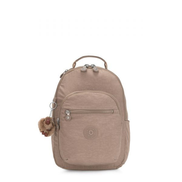 SEOUL GO S Stone Beige BACKPACKS by Kipling Back