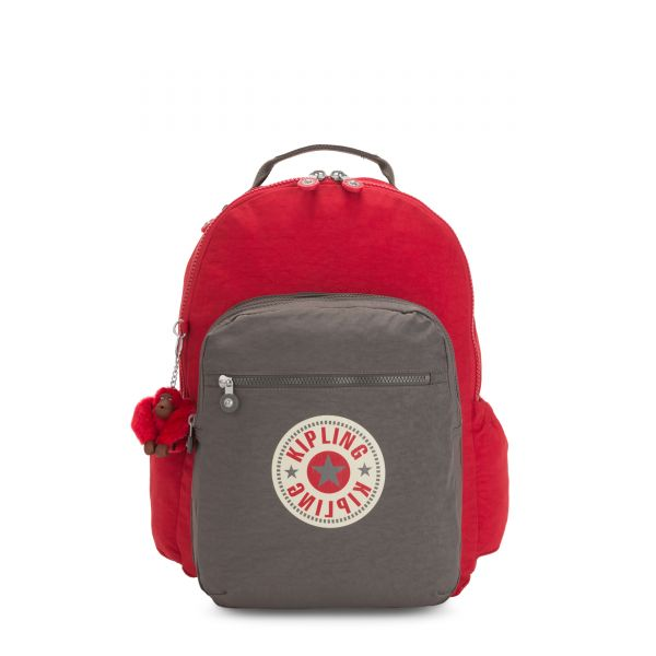 SEOUL GO Cherry Bold Block BACKPACKS by Kipling Back