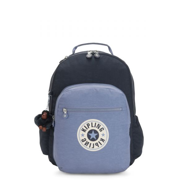 SEOUL GO True Blue Bold Block BACKPACKS by Kipling Back