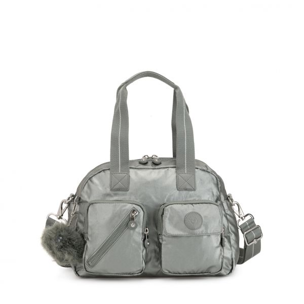 DEFEA UP Metallic Stony SHOULDERBAGS by Kipling Front