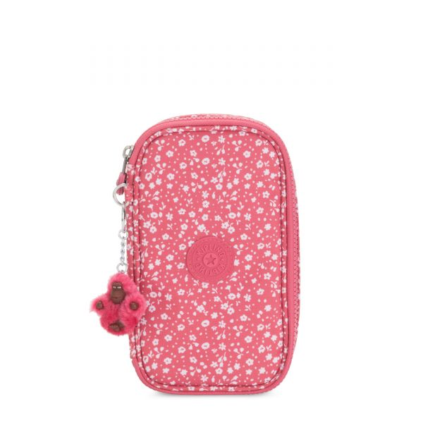 50 PENS Dainty Daisies Pink POUCHES/CASES by Kipling Back