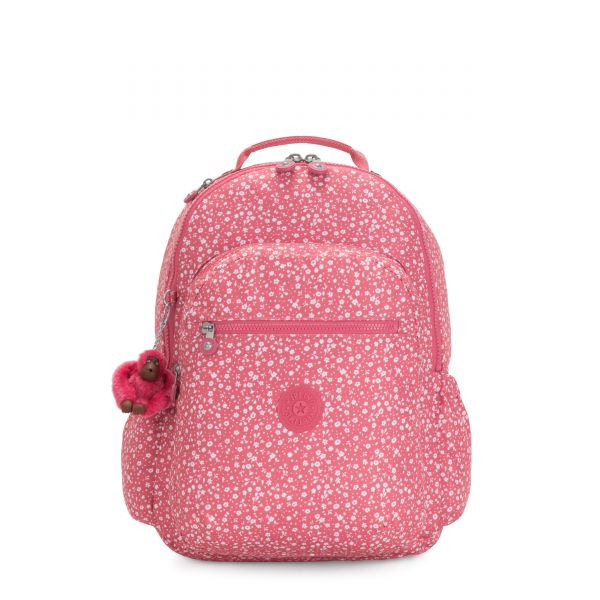 SEOUL GO Dainty Daisies Pink BACKPACKS by Kipling Back