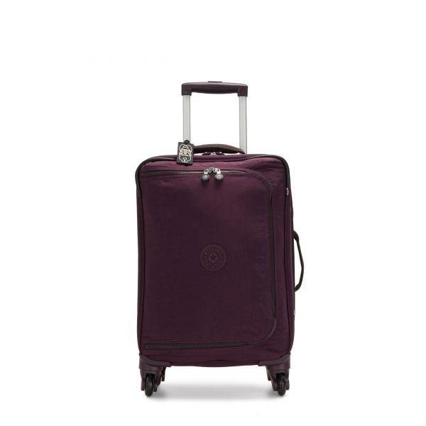 CYRAH S Dark Plum CARRY ON by Kipling Front