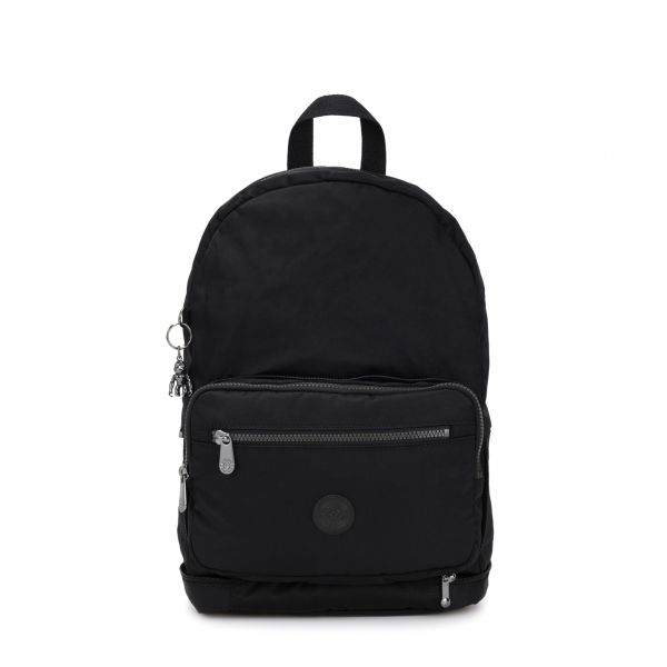 NIMAN FOLD Rich Black BACKPACKS by Kipling Front