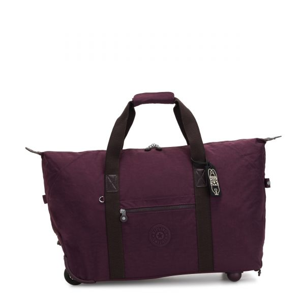 ART ON WHEELS M Dark Plum CARRY ON by Kipling Front