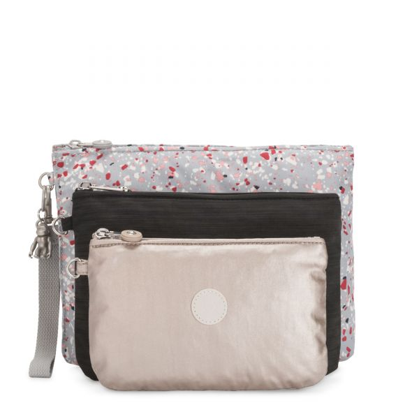 IAKA L WRISTLET Speckled POUCHES/CASES by Kipling Front
